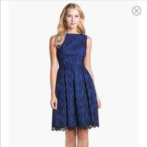ISAAC MIZRAHI Bonded Lace Fit & Flare Dress